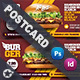 Fast Food Burger Postcard Templates