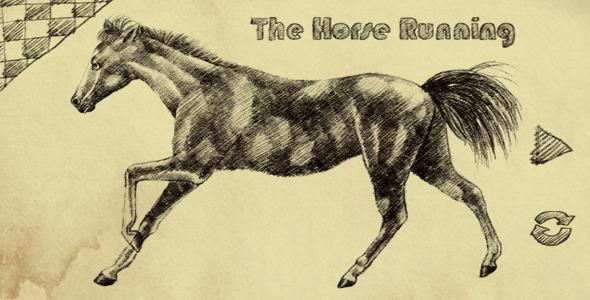 高清视频素材:二维艺术铅笔手绘马奔跑动画含Alpha透明通道视频素材THE HORSE RUNNING 免费下载