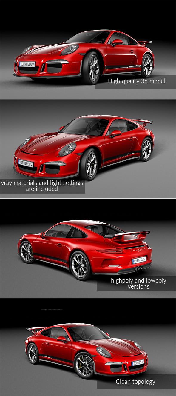 3DOcean Porsche 911 R 2017 20011371