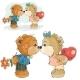 Pair of Brown Teddy Bears Kissing
