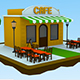 Low Poly Cafe Shop