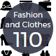 Fashion and Clothes Glyphs Icons