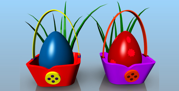 3DOcean Egg Basket 20012684
