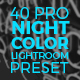 The Visual Artist Night Color Preset Series