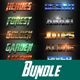 40 Mix Bundle Text Effect Styles
