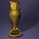 Bronze owl statuette