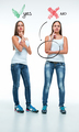 conceptual portrait of two beautiful twin young women