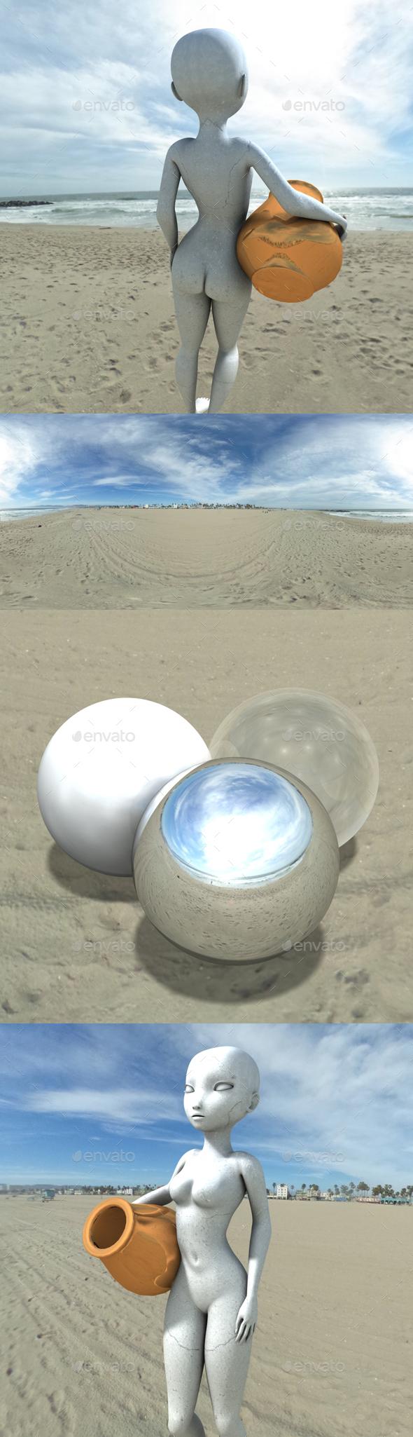 Bright Venice Beach HDRI