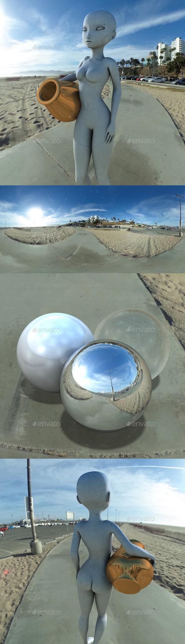 3DOcean Sunny Beach Car Park HDRI 20014052