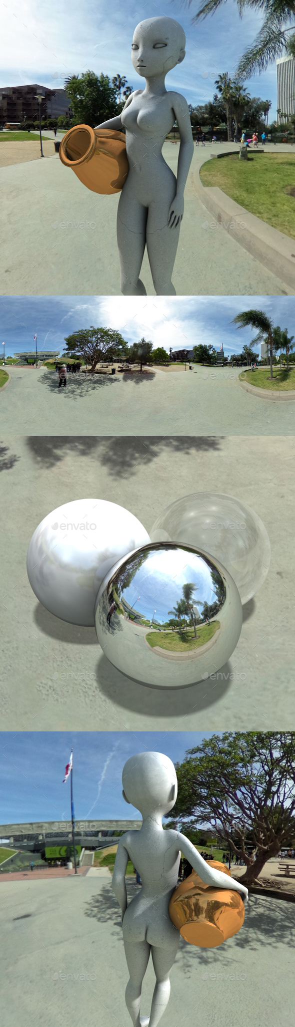3DOcean Sunny Tar Pit Park HDRI 20014137