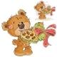Brown Teddy Bear Holding Chocolates