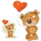 Brown Teddy Bear Holding Balloon