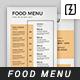 Minimal Food Menu Template