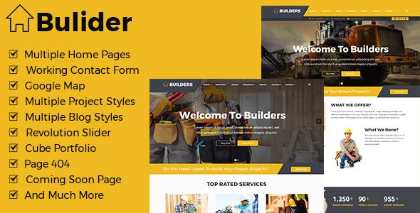 Builder - Construction Renovation Templates
