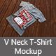 V Neck T Shirt Mockup