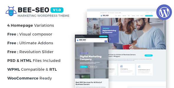 Download Bee SEO - Marketing WordPress Theme