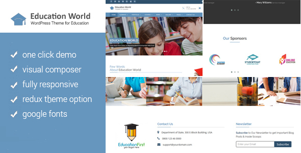 Download Education World WordPress Theme
