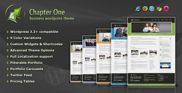 ThemeForest Chapter One Business WordPress Theme 1942683