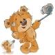 Brown Teddy Bear Makes Selfie