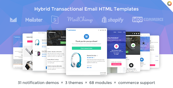 Lil Commerce - Hybrid Transactional Email HTML Templates
