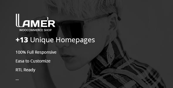 Lamer Fashion – WooCommerce WordPress Theme (WooCommerce) images