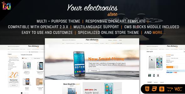 Responsive OpenCart Theme Store