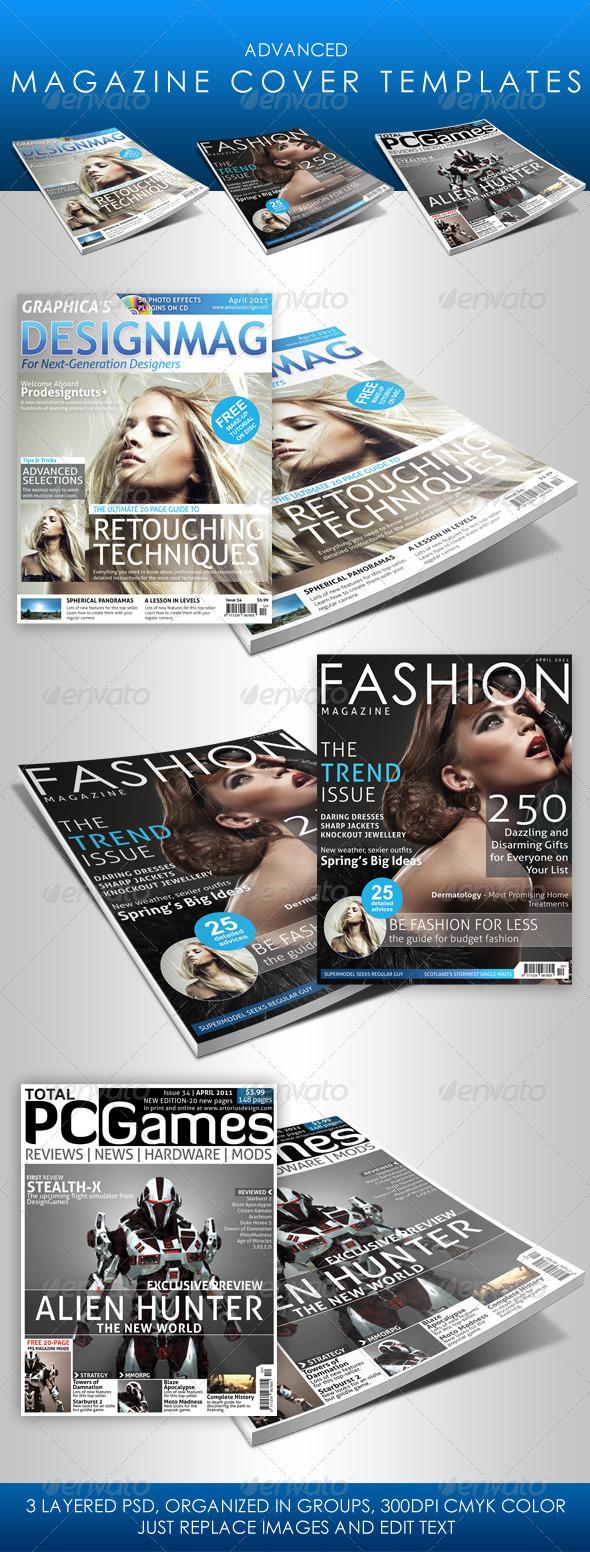 GraphicRiver Advanced Magazine Cover Templates 180328