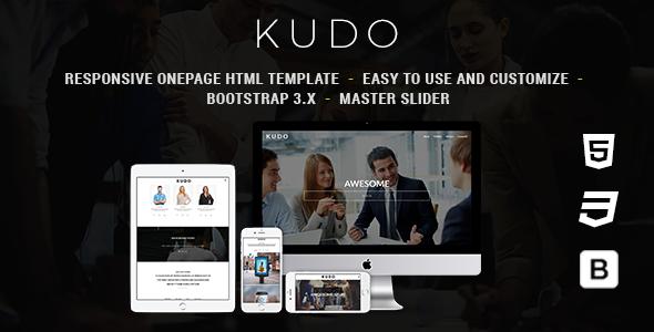 Kudo - Responsive Onepage HTML Template