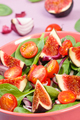 Fruit and vegetable salad in glass bowl, healthy lifestyle and nutrition concept
