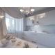 3d Render of Design Interior Kitchen in White