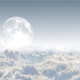Moon And Clouds Background
