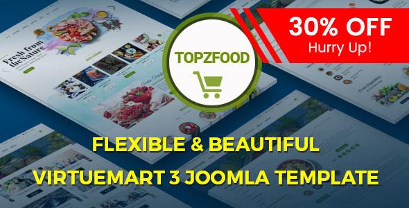Download TopzFood - Multipurpose VirtueMart eCommerce Joomla Templates