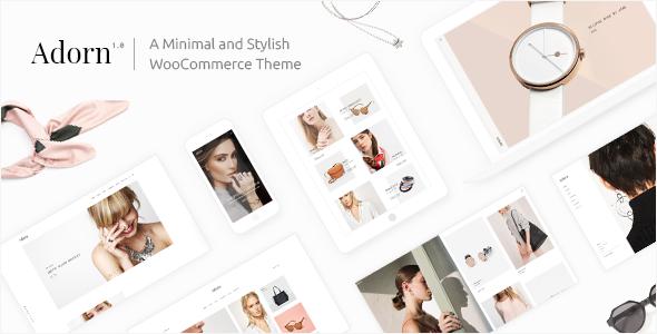 Adorn – A Minimal and Stylish WooCommerce Theme (WooCommerce) images