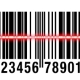 Scanning EAN Barcode Isolated