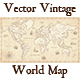 Vintage Vector World Map