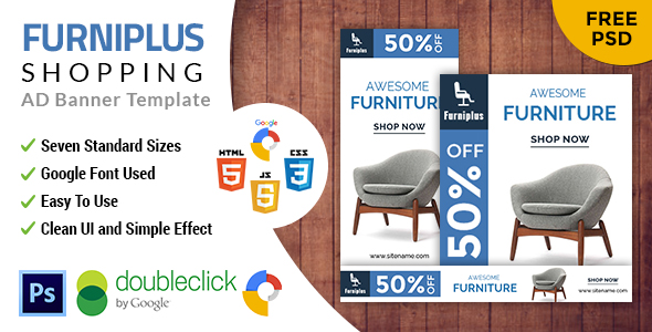 Download Furniplus | Furniture HTML 5 Animated Google Banner