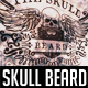 Skull Beard Label Logo