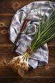 Bunch of organic fresh garlic