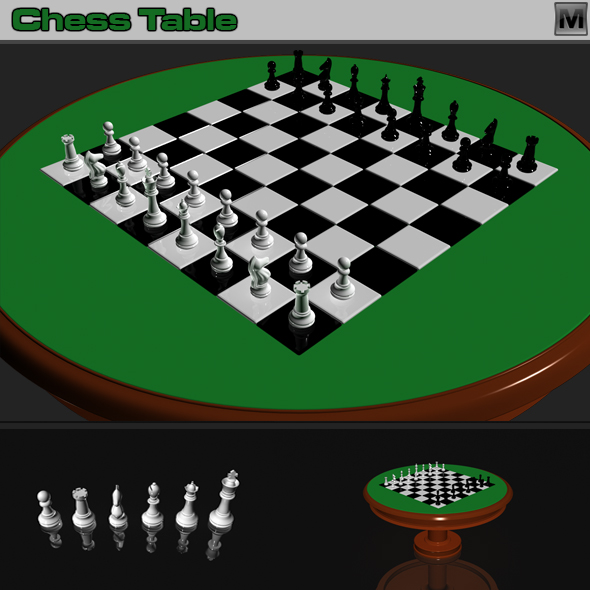 3DOcean Table Chess 75495