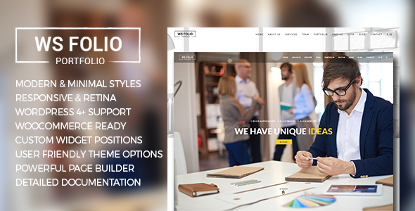 WS Folio - Responsive Portfolio WordPress Theme