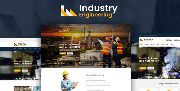 Business Engineering – Industrial And Engineering HTML Template (Corporate)