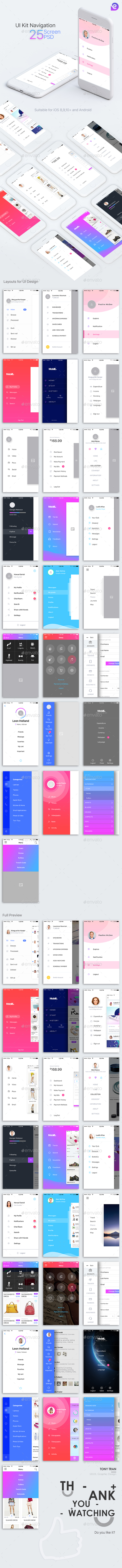 Mobile Theme UI/UX Kit (User Interfaces)