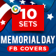 Memorial Day Facebook Covers - 10 Designs