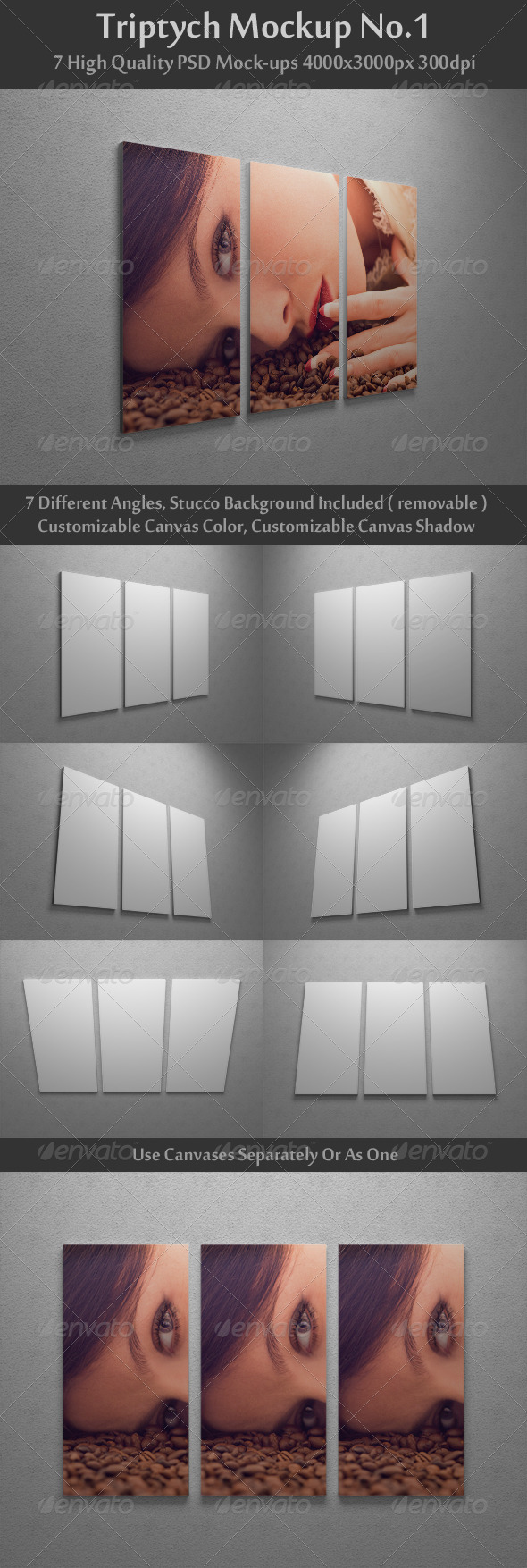 GraphicRiver Triptych Mock-Up No.1 1960475