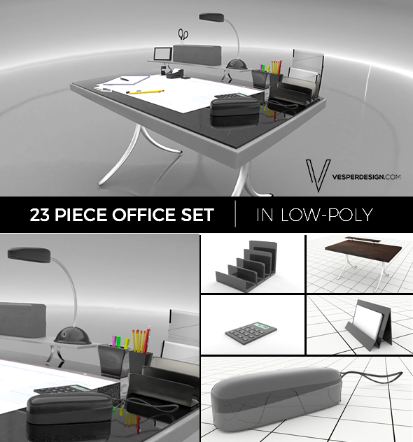 Office Supplies - 3DOcean Item for Sale