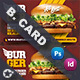 Fast Food Burger Business Card Templates