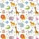 Children Seamless Vector Wallpaper