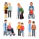 Disabled People Group or Hospital Patients