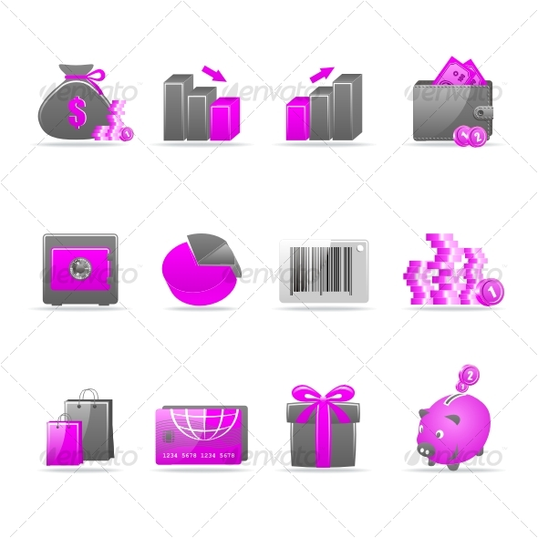 Graphic River Glossy icon set Icons -  Web 75508