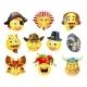 History Emoji Emoticon Set